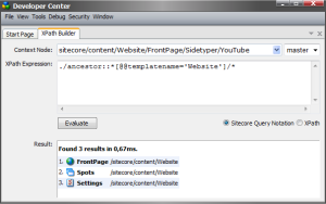 Sitecore XPath Builder